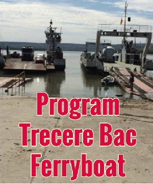 Program Bac Ferryboat Calarasi OStrov Silistra